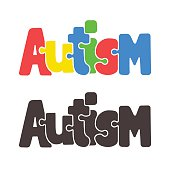 Autism jigsaw puzzle text