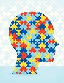 Autism Puzzle Head