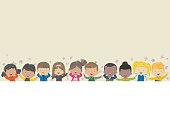 Vector autmn kids backgrounds