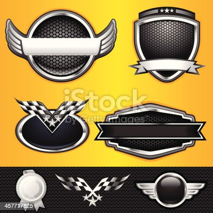 A  Auto and Race Winner Emblems illustration. All elements are separate. No transparent and mesh layer. Hi-Res jpeg included. Very hight detailed.
