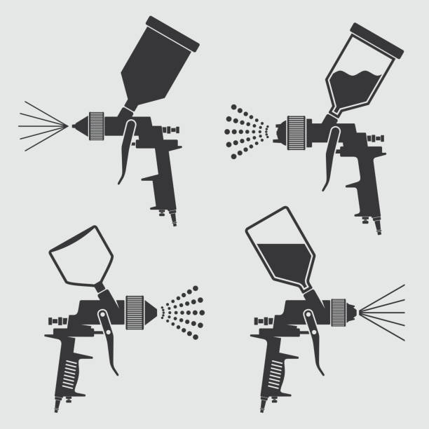 2 635 Paint Spray Gun Stock Photos Pictures Royalty Free Images Istock