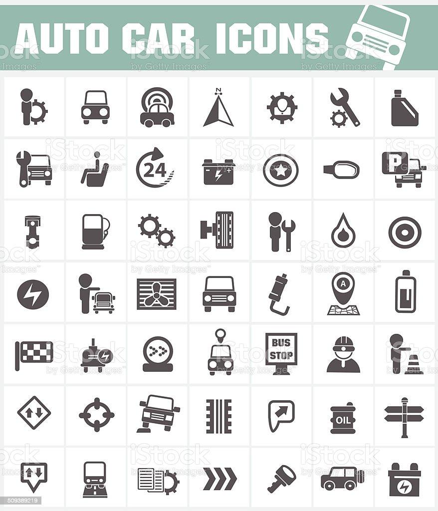 Auto car icon set,vector vector art illustration