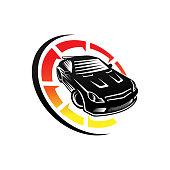 Auto Car  icon Vector Illustration template. Modern Sport Car vector icon silhouette design. Auto Car vector illustration for car repair, dealer, garage and service.