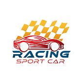 Auto Car Logo icon Vector Illustration template. Modern Sport Car vector logo icon silhouette design. Auto Car logo vector illustration for car repair, dealer, garage and service.