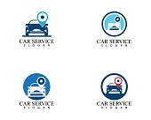 Auto car service logo design vector