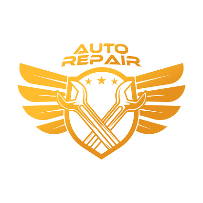 Auto Car Service Logo icon Vector Illustration template. Modern Car Service vector logo silhouette design. Abstract Car logo vector illustration for car repair, dealer, garage and service.