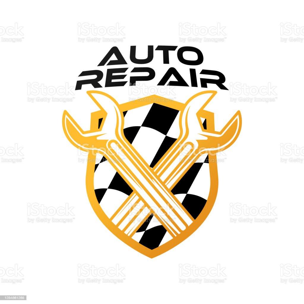 Auto Car Service Logo Icon Vector Illustration Template Modern Car Service Vector Logo Silhouette Design Abstract Car Logo Vector Illustration For Car Repair Dealer Garage And Service Stock Illustration Download Image