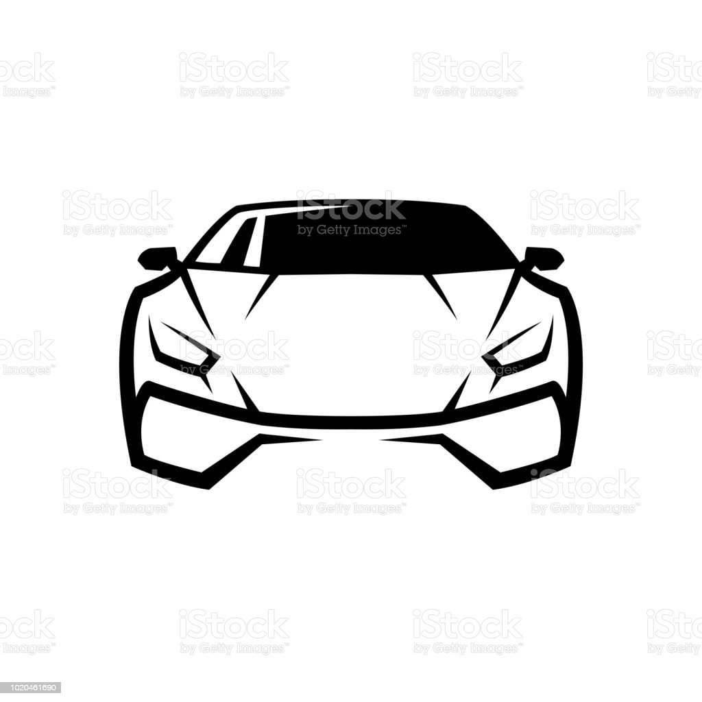 Auto Car Template Design Symbol Icon Stock Illustration