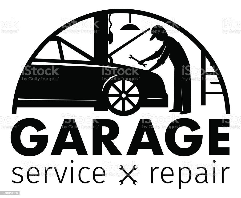Autocenter Tiefgarage Service Und Reparieren Logo Vektor Vorlage ...