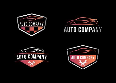 Auto Company Logo, Vector illustration