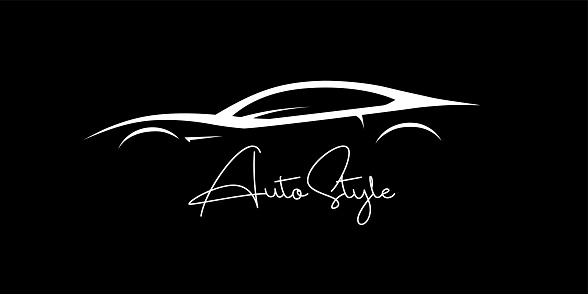 Auto Concept sports car silhouette