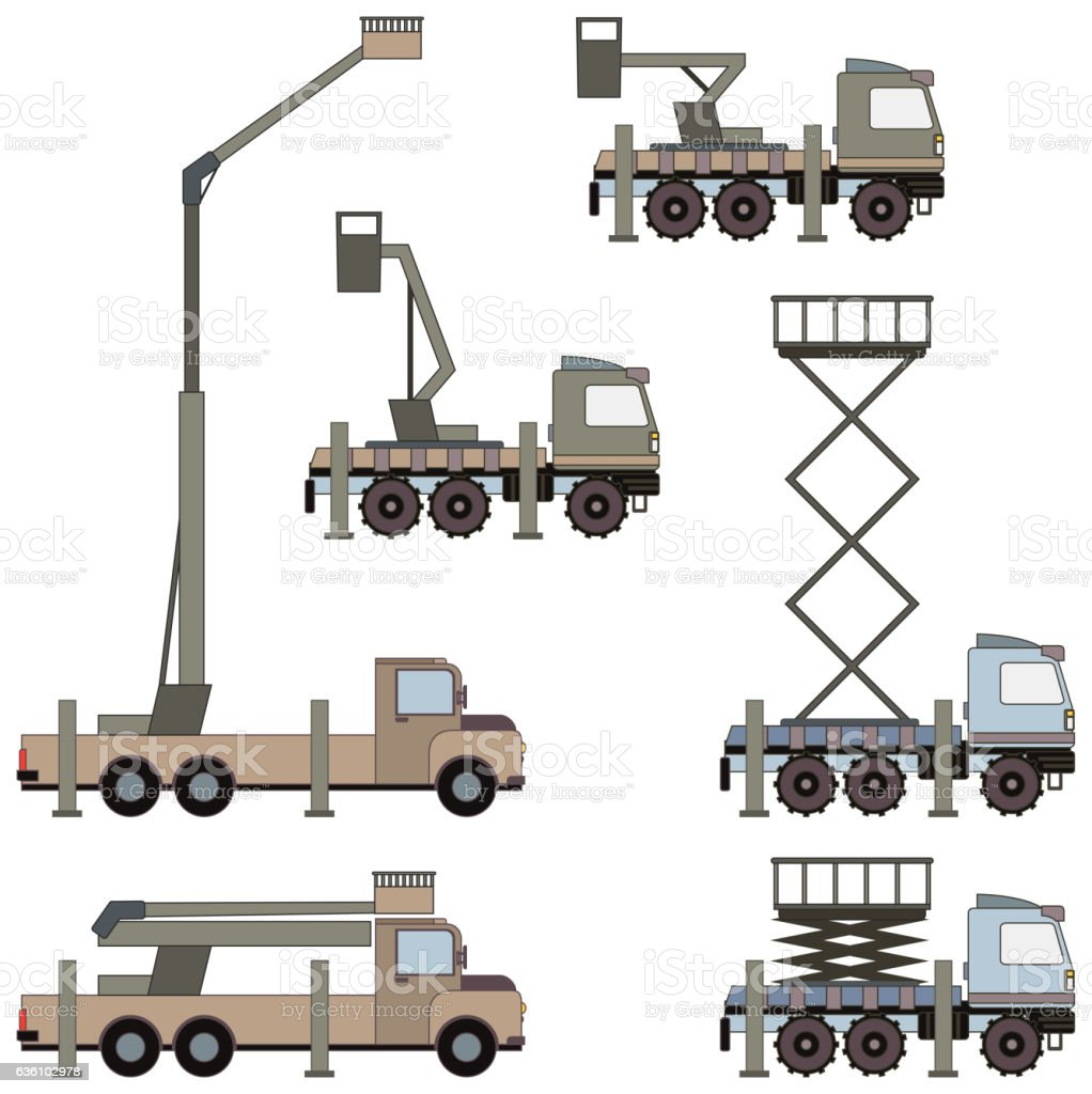 Auto crane. Vector vector art illustration