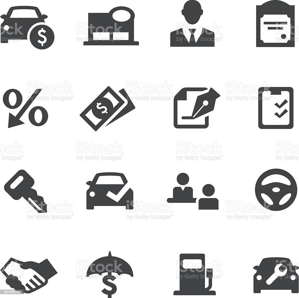 Auto Dealership Icons - Acme Series vector art illustration