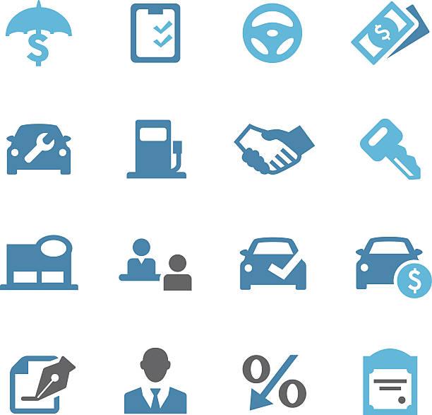 自動車ディーラーアイコン-conc シリーズ - 小売販売員点のイラスト素材/クリップアート素材/マンガ素材/アイコン素材