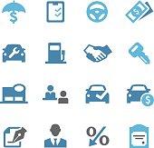 Auto Dealership Icons - Conc Series