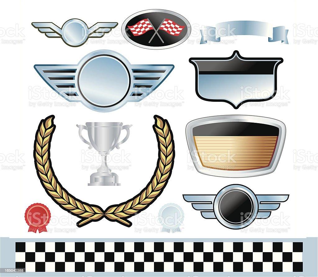 Auto Emblems / Motifs royalty-free stock vector art
