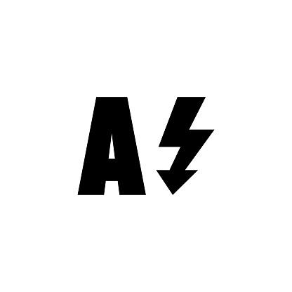 Auto Flash, Light Camera Mode Flat Vector Icon