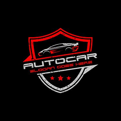 Auto garage car logo premium vector design, best for automotive logo template
