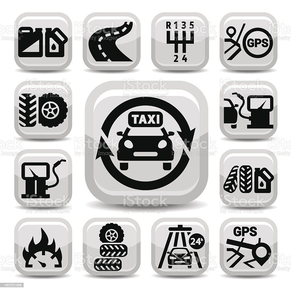 auto icon set royalty-free auto icon set stock vector art & more images of car