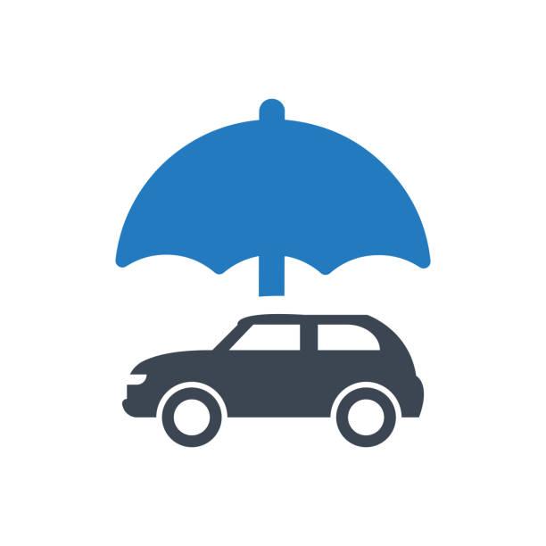 auto insurance icon vector art illustration