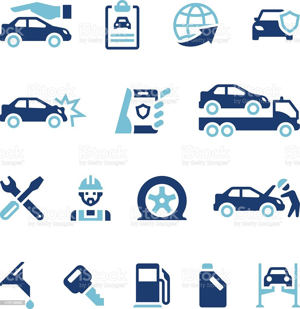 Auto Insurance Icons Stock Illustration - Download Image ...