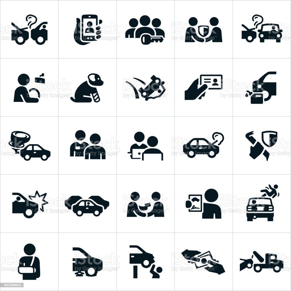 自動車保険アイコン ベクターアートイラスト