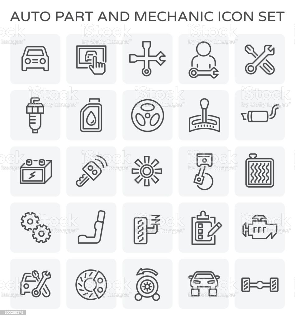 auto mechanic icon vector art illustration