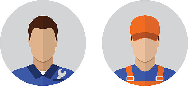 auto mechanic icons - handyman stock illustrations