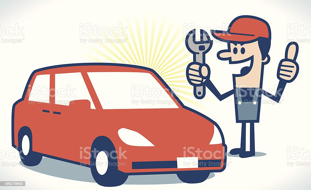 royalty free auto mechanic clip art vector images illustrations rh istockphoto com auto repair clipart free auto repair clipart black and white
