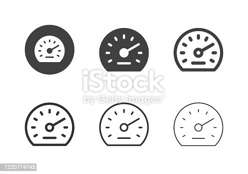 Auto Meter Icons Multi Series Vector EPS File.