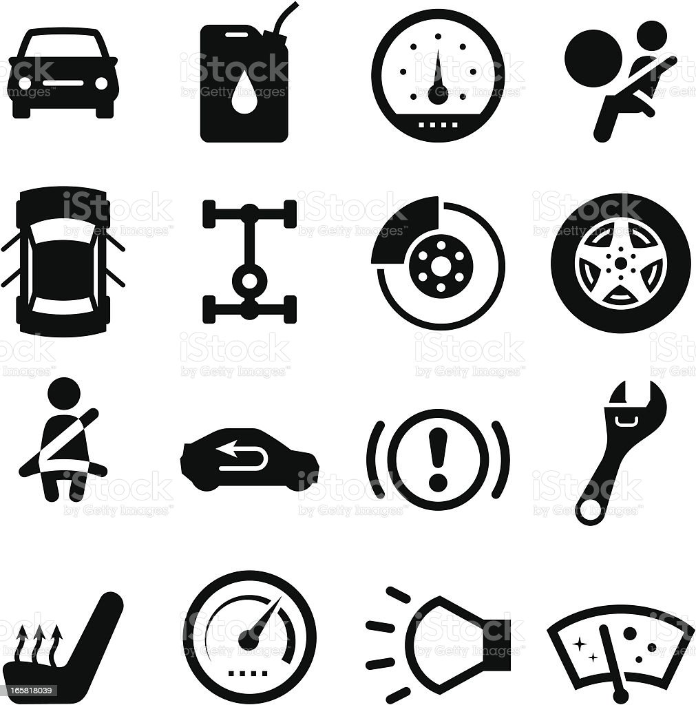 Auto Parts - Black Series royalty-free stock vector art