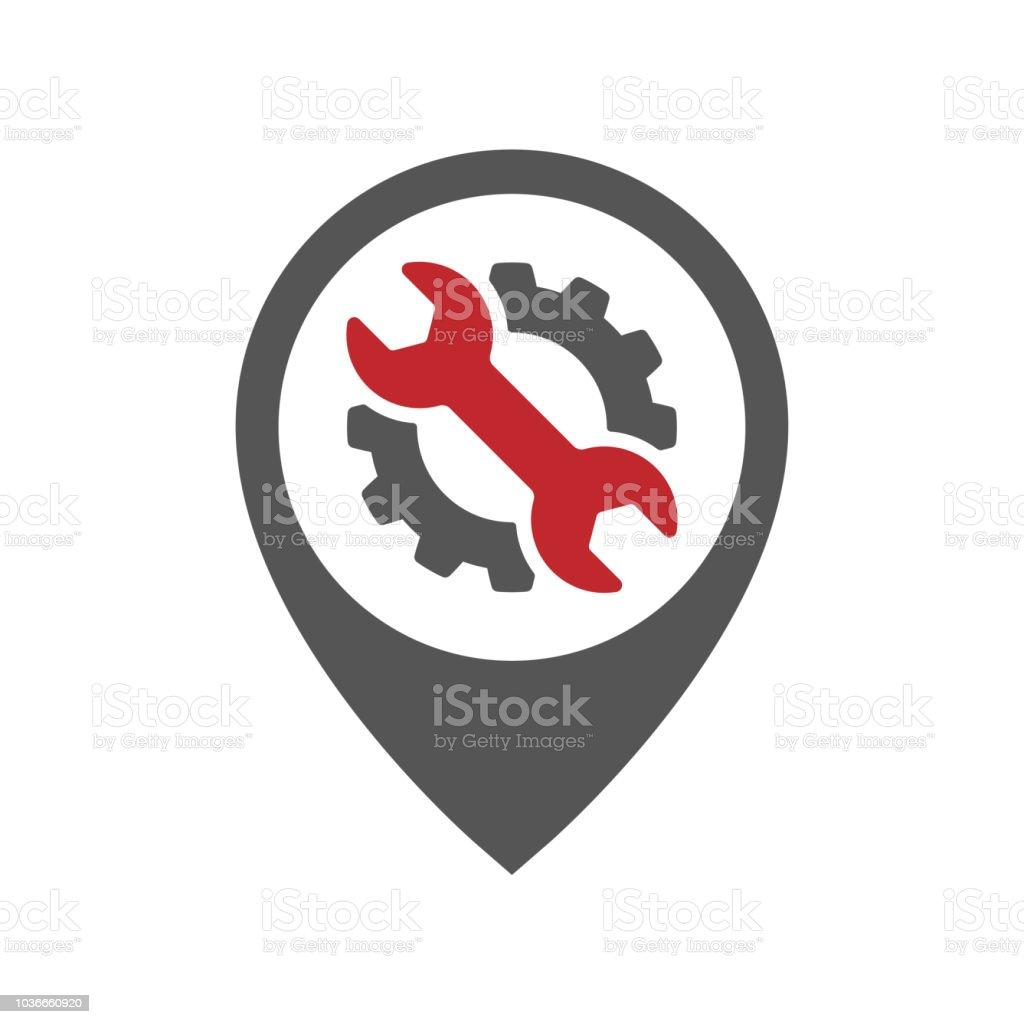 auto pin car point automotive logo design template stock vector art