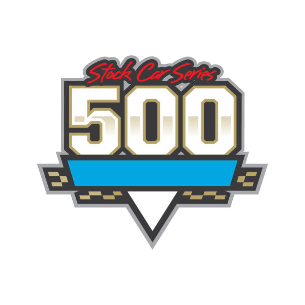 Auto Racing 500 Logo vector art illustration
