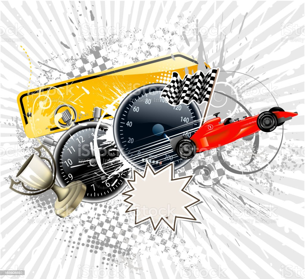 auto racing backround royalty-free stock vector art