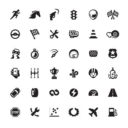 Auto Racing design icon set