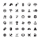 Auto Racing design icon set