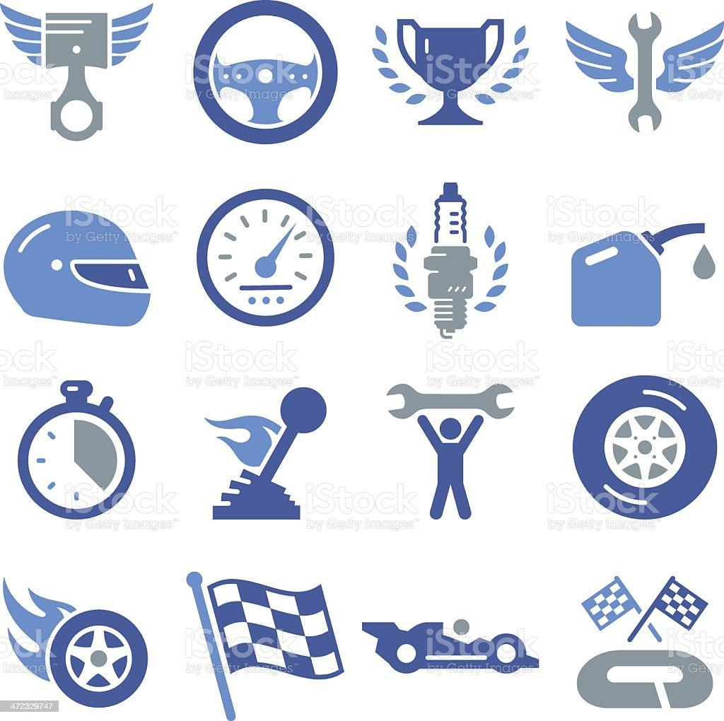 Auto Racing Icons - Pro Series vector art illustration