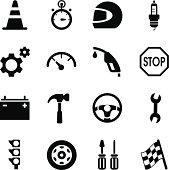 Auto Racing Icons