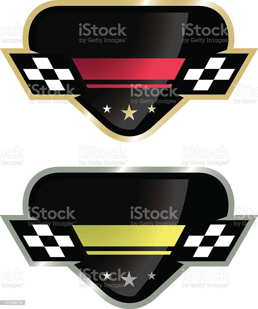 Auto Racing Logo vector art illustration