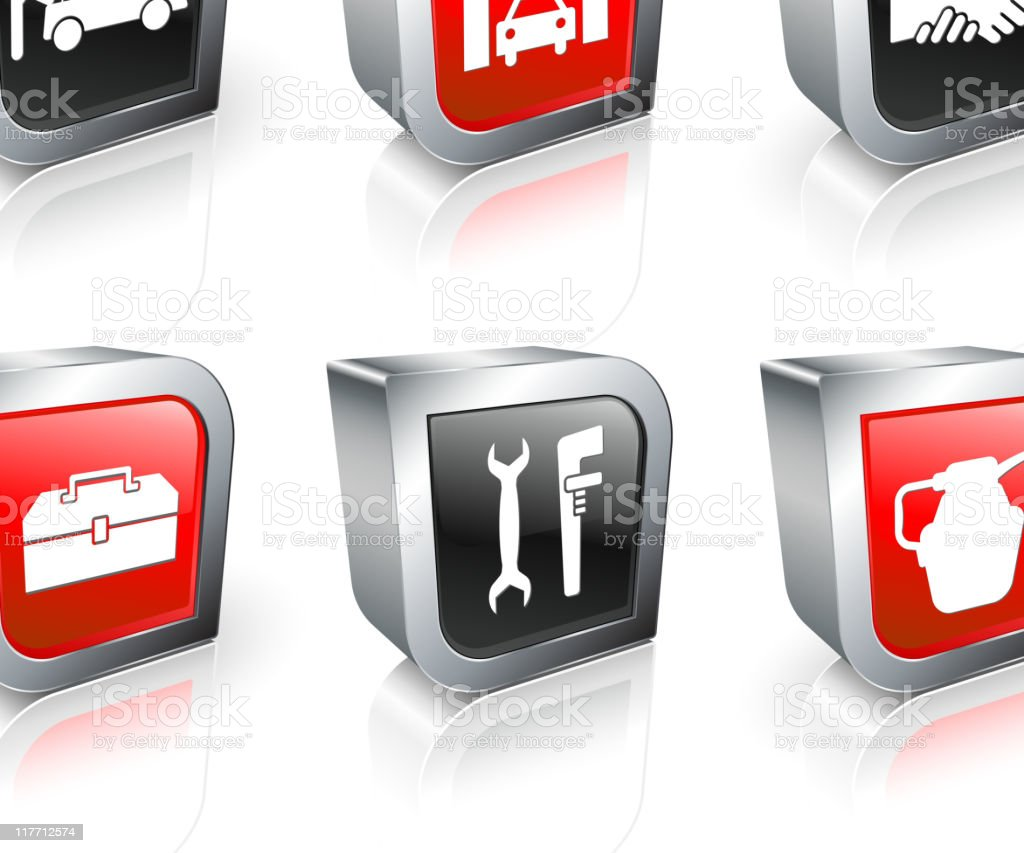 auto repair 3D royalty free vector icon set royalty-free stock vector art