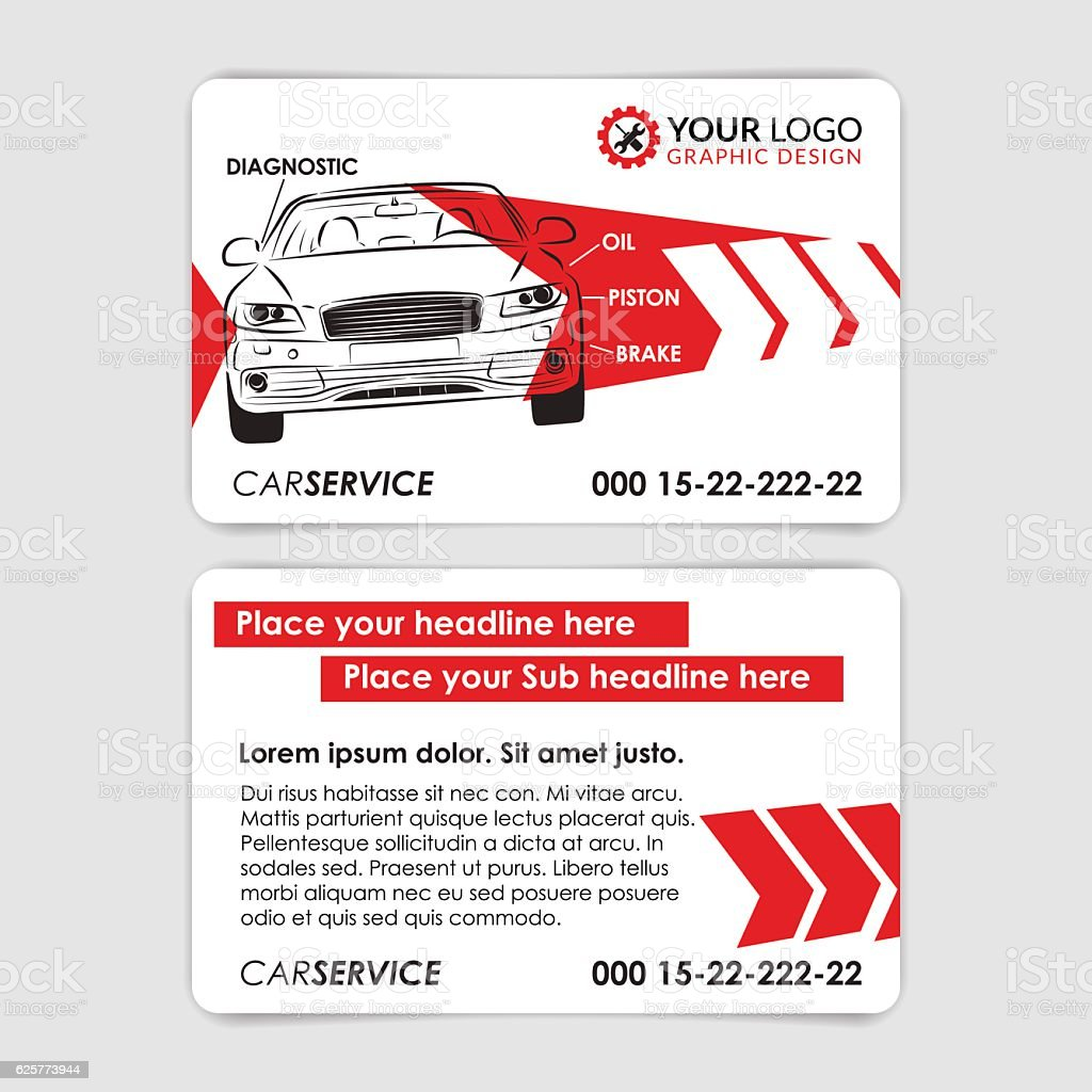 Auto Repair Business Card Template Create Your Own Business Cards ...