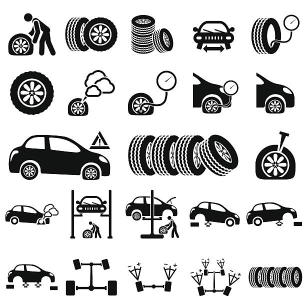 Best Flat Tire Illustrations Royalty Free Vector Graphics Clip