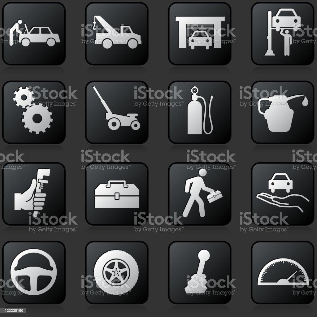 Auto Repair Royalty Free Vector Icon Set Stock Illustration