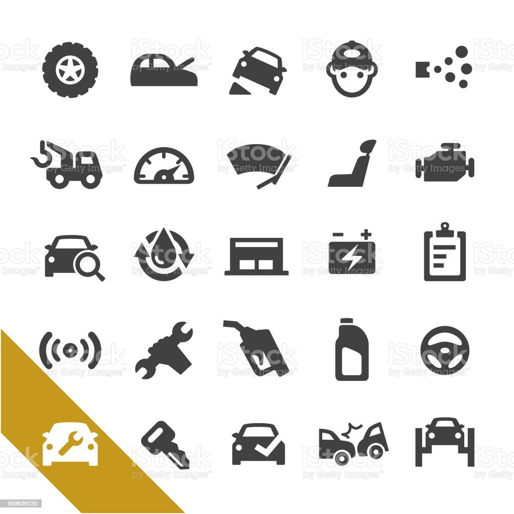 Auto Repair Shop Icons - Select Series vector art illustration
