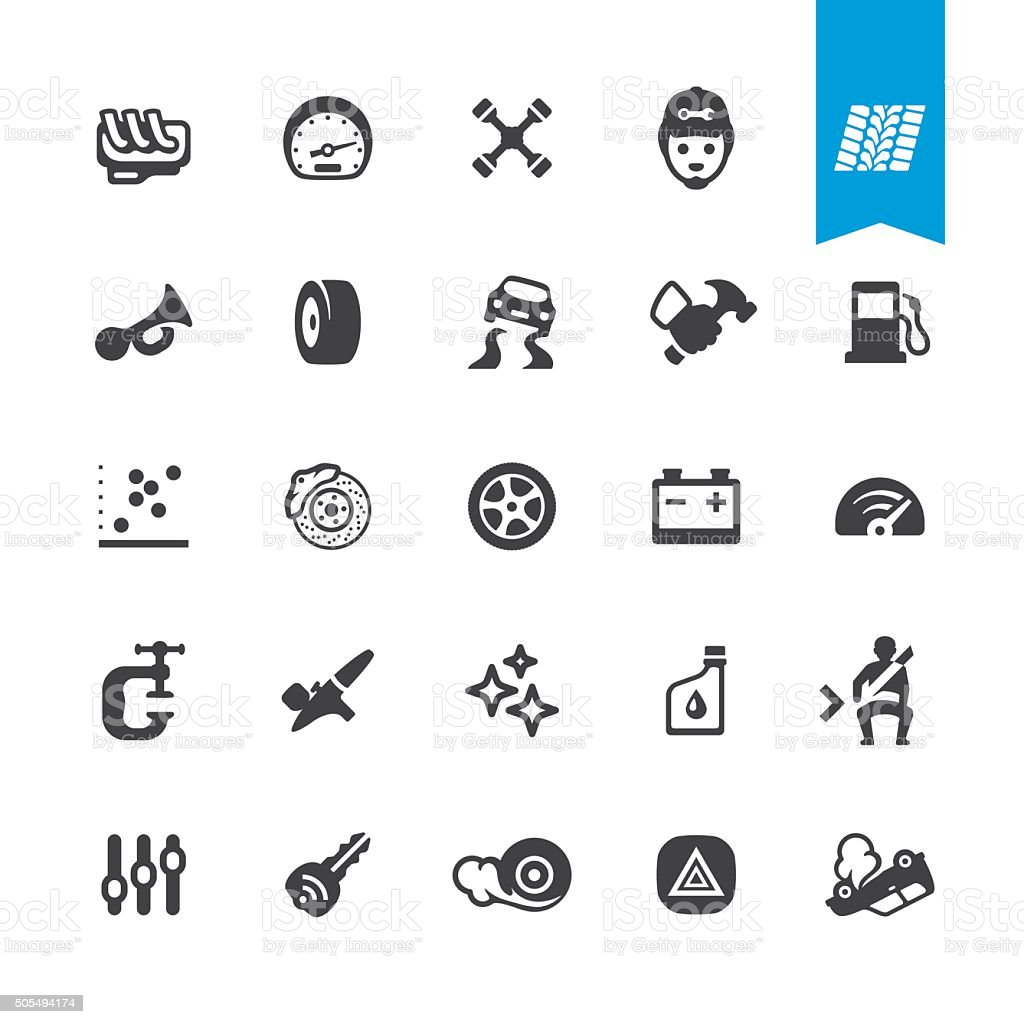 Auto Repair Shop vector icons vector art illustration