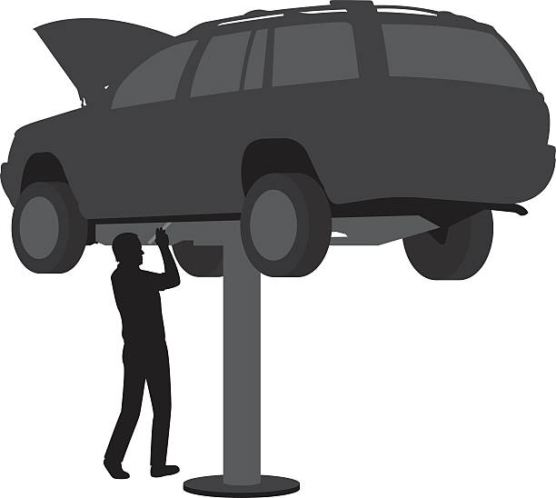 Best Car Lift Illustrations, Royalty-Free Vector Graphics ...