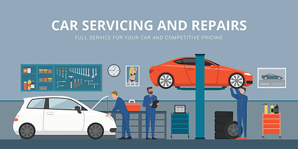 auto repair - mechanic stock illustrations, clip art, cartoons, & icons