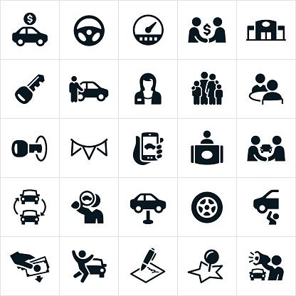 Auto Sales Icons