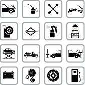Auto service and repair icons