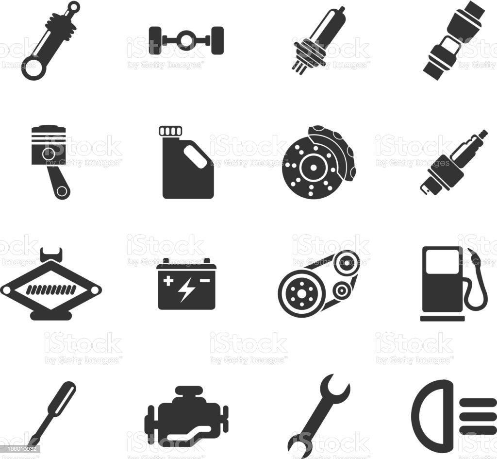 Auto Service Icons royalty-free stock vector art